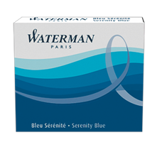 S0110950 Waterman Комплектующие Чернила в картридже  Blue MINI  (в упаковке 6 картриджей)