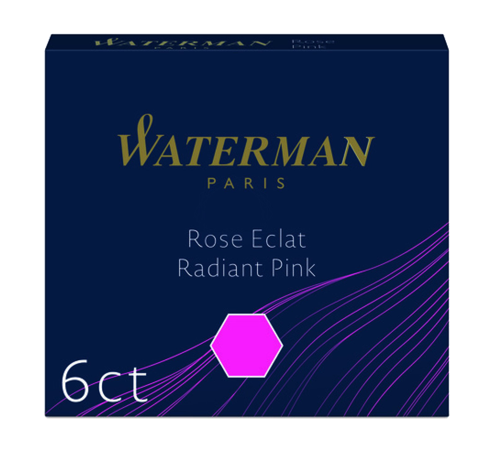 S0110960 Waterman Комплектующие Чернила в картридже  Radiant Pink MINI  (в упаковке 6 картриджей)