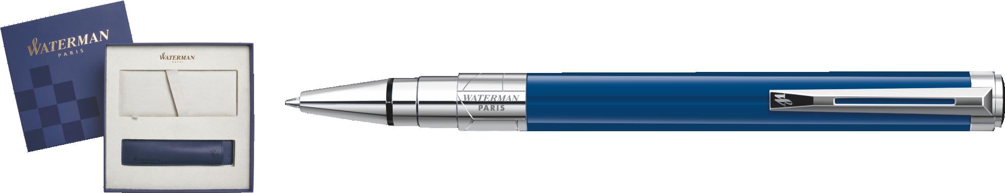 1904579Cover Waterman Perspective Подарочный набор Шариковая ручка, Blue Obsession CT с чехлом