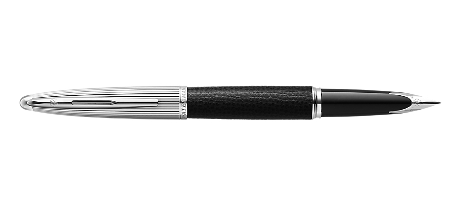 2099564 Waterman Carene Перьевая ручка   Special Edition Black Leather  цвет: Black/Silver, палладиевое перо: F