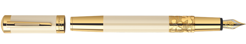 S0891310 Waterman Elegance Перьевая ручка, цвет: Ivory GT, перо: F