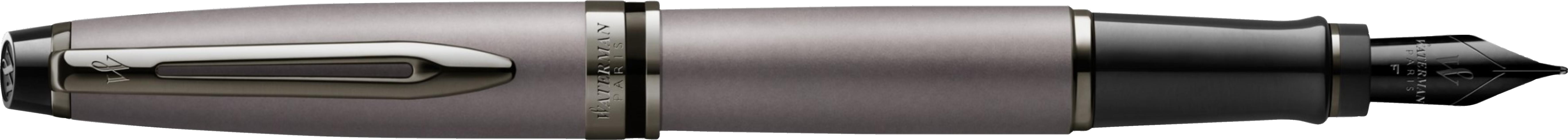 2119253 Waterman Expert Перьевая ручка  Silver F BLK в подарочной упаковке