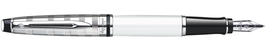 S0889680, S0952380 Waterman Expert Перьевая ручка   3 DeLuxe, цвет: White CT, перо: F