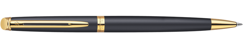 S0920770 Waterman Hemisphere Шариковая ручка, цвет: MatteBlack GT, стержень: Mblk