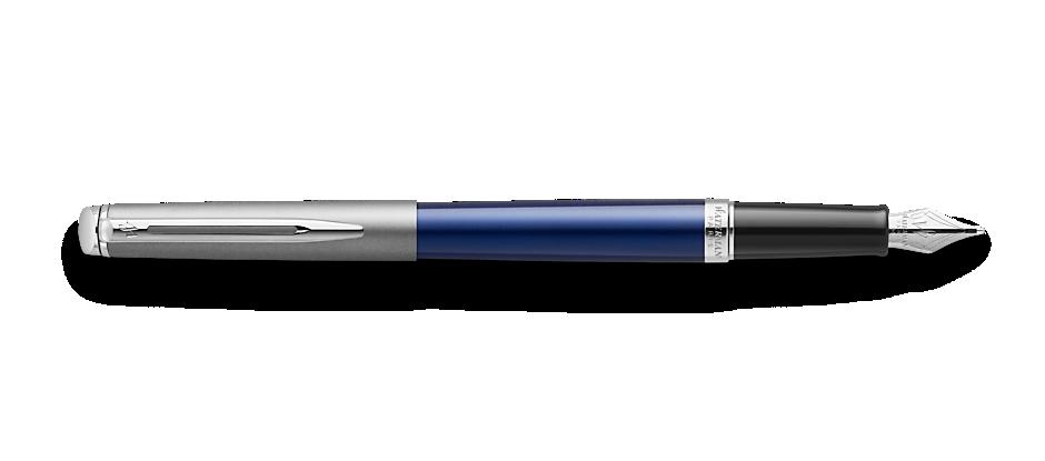 2146616 Waterman Hemisphere Перьевая ручка   Entry Point Stainless Steel with Blue Lacquer в подарочной упаковке