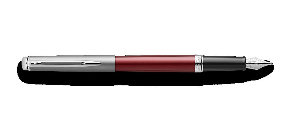 2146623 Waterman Hemisphere Перьевая ручка   Entry Point Stainless Steel with Red Lacquer в подарочной упаковке